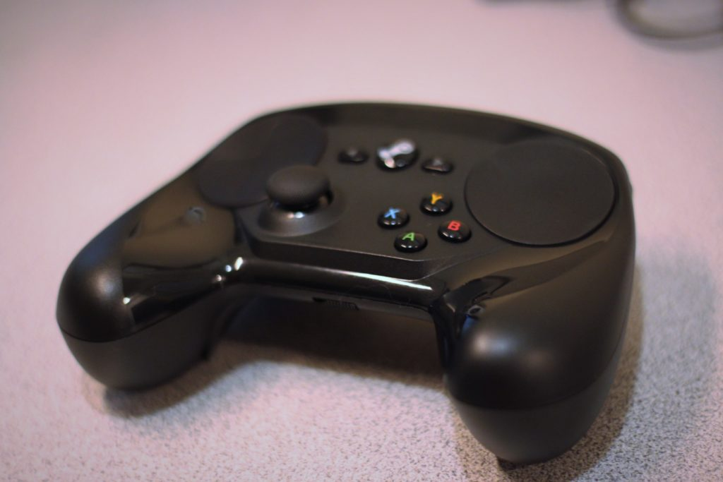 Steam Controller Front Face Angled